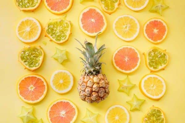 citrus fruits flat lay