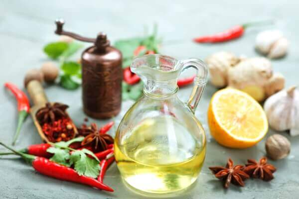Castor oil and other ingredients
